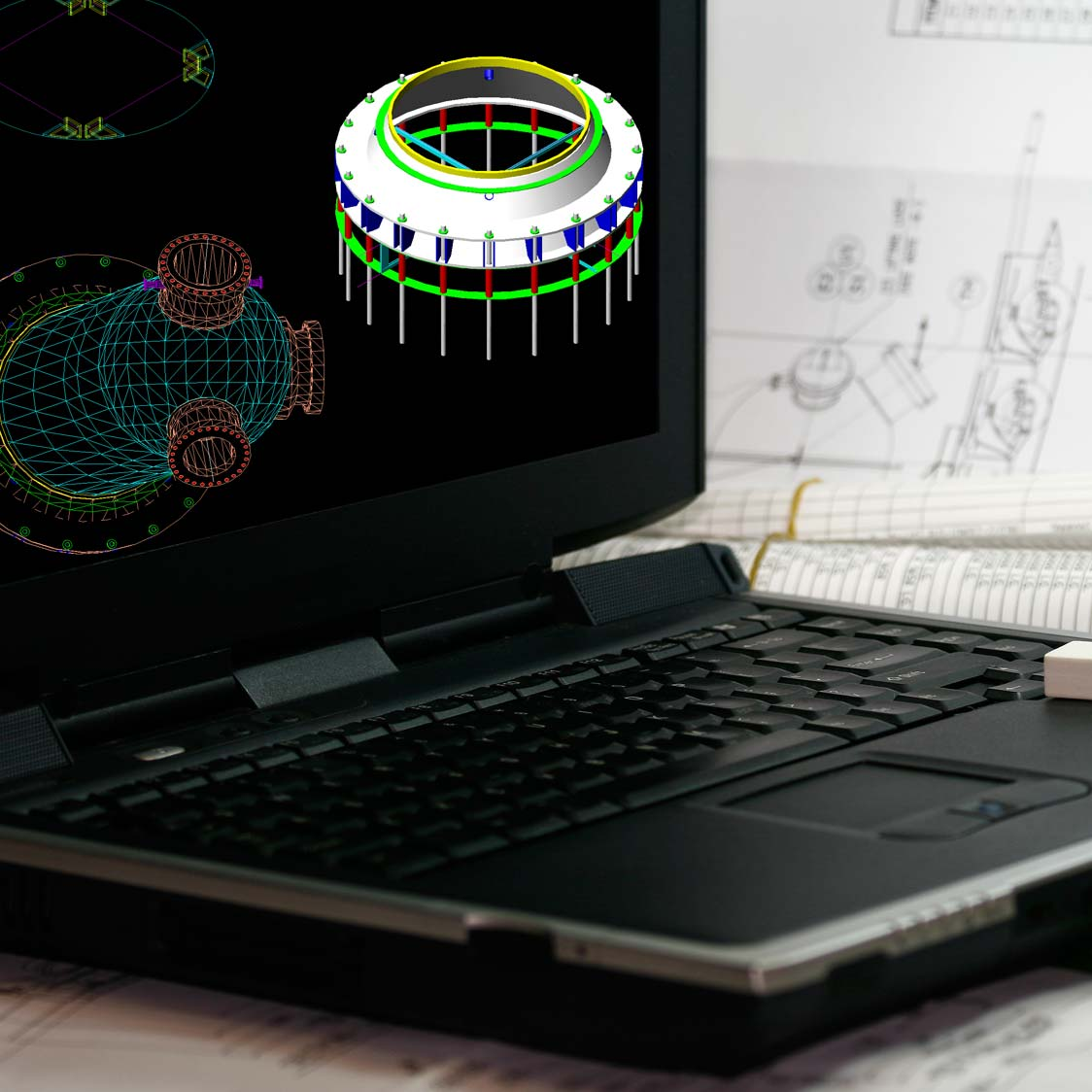 Laptop With CAD