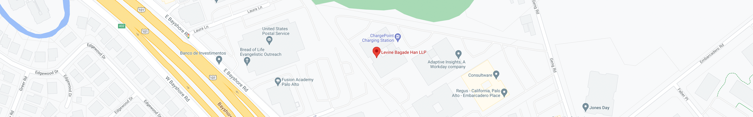 Levine Bagade Han on Google Maps - Link opens in new window